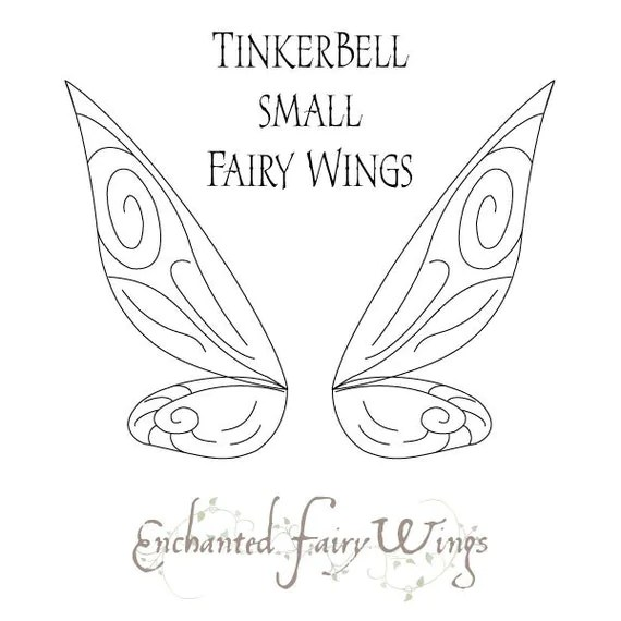 PATTERN and tutorial for fairy wings Tinker Bell small