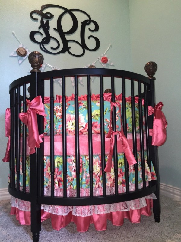Crib Beddinground Sets Girls Baby