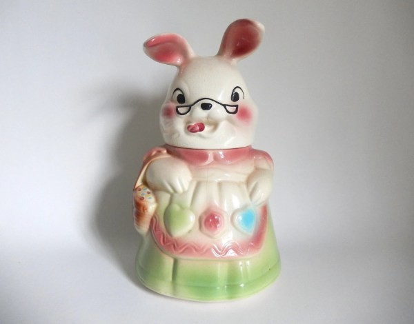 Mid Century 1950' Silly Lady Bunny Rabbit Cookie Jar