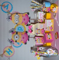 Girl Minion Birthday Party Centerpieces Favor by ...