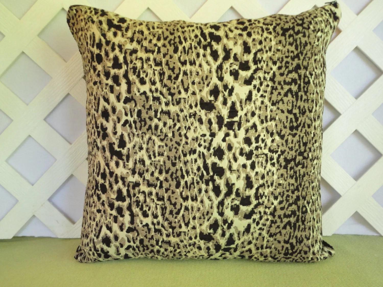 Leopard Print Pillow Cover Animal Print Pillow Cover Tan