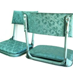 Wh Gunlocke Chair Chairs For Church Sanctuary Canada Vintage Turquoise Metal And Vinyl Padded Folding Stadium Lawn