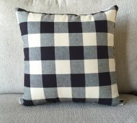 Decorative pillow buffalo check large check by OldLakeGeorge