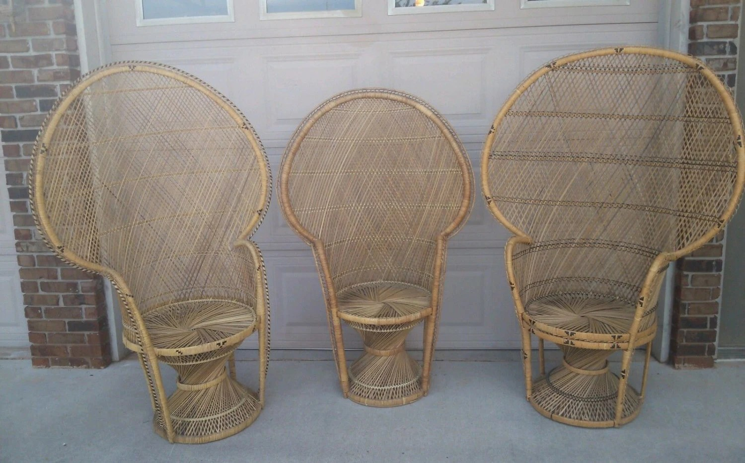 fan back wicker chair lowes chaise lounge chairs 3 large peacock rattan  haute juice