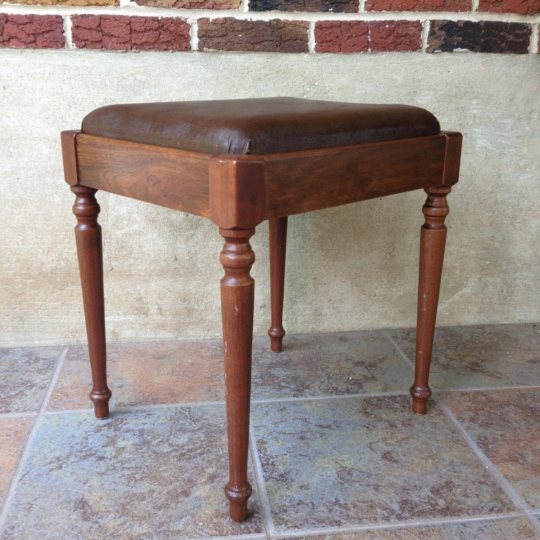 antique sewing chair heywood wakefield cane vintage stool seat vanity by varietyretro