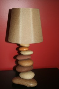 Stacked Rock Lamp by TheHiddenCardinal on Etsy