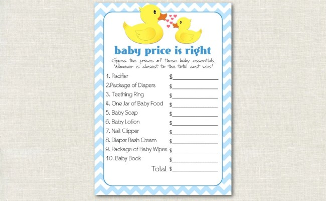 Rubber Ducky Price Is Right Baby Shower Game Rubber Ducky