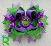 ninja turtles layered hair bow