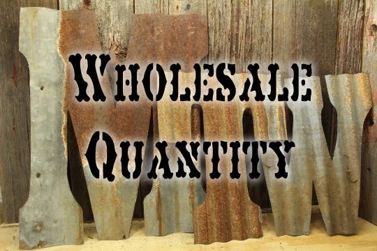 Items Similar To Rusty Tin Letters Wholesale Lot FREE Shipping
