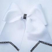 cheer bow rhinestone hair clip