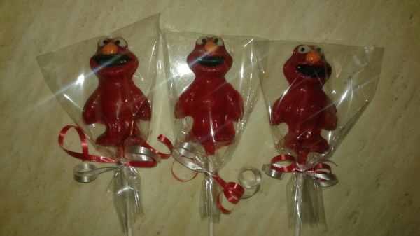 Elmo Chocolate Candy Lollipop Favor