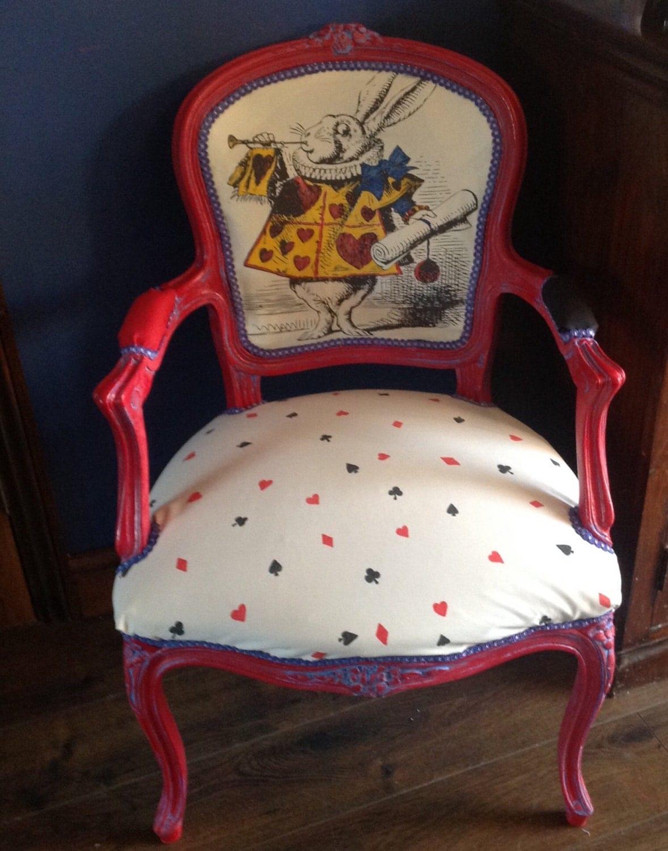 alice in wonderland chair bedroom club inspired louis by vintageaurorarose