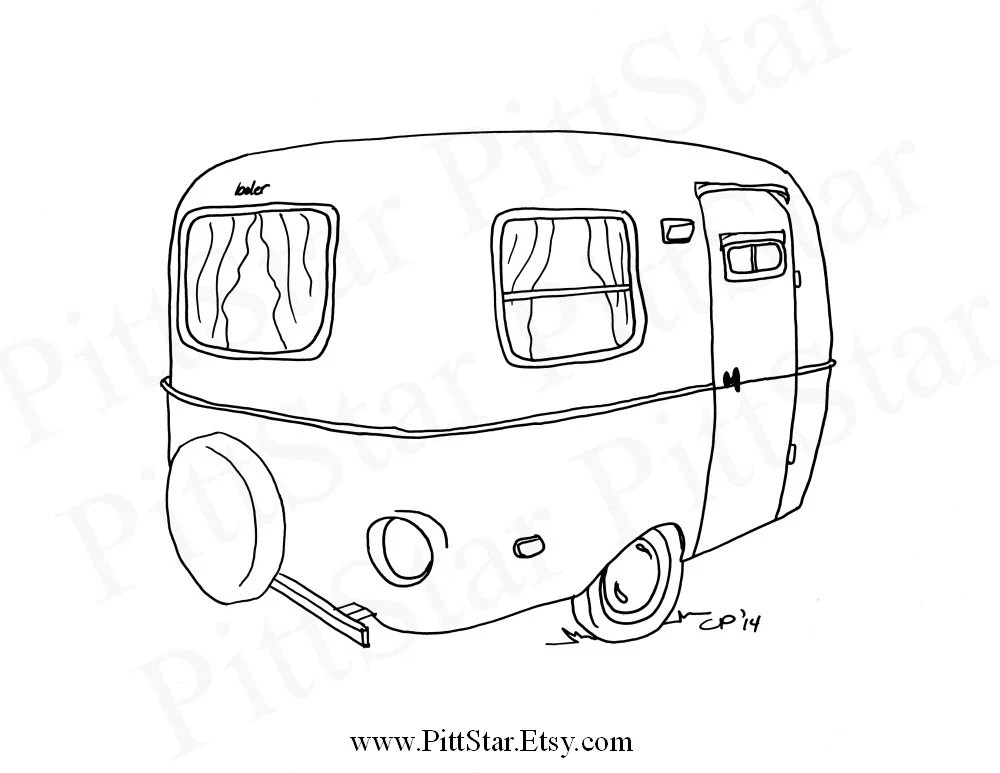 Fifth Wheel Camper Coloring Pages