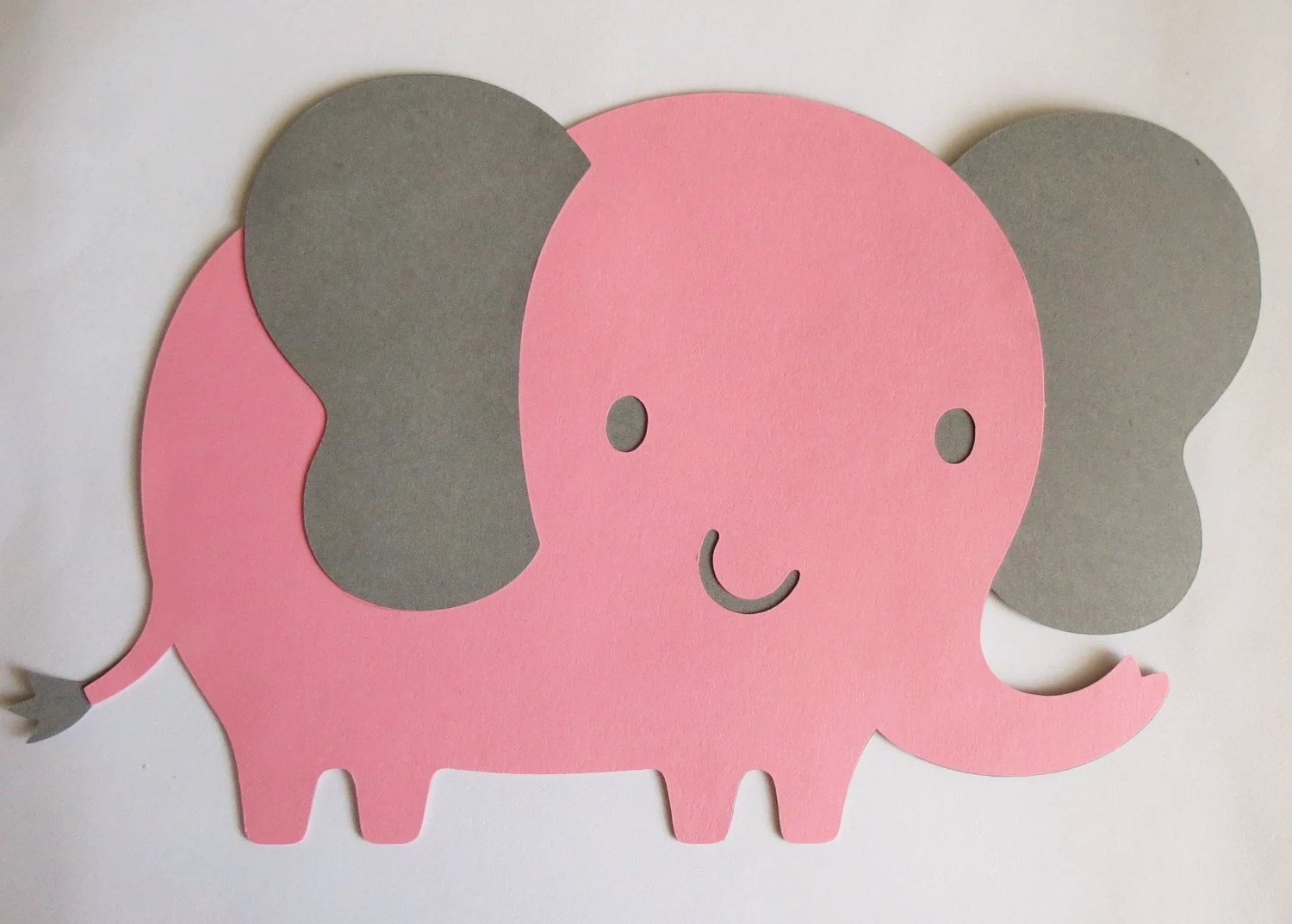 Large Pink And Grey Elephant Cut Outs Cuts 8 W X