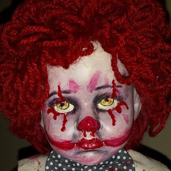 Evil Clown baby horror doll Lucky Chucky