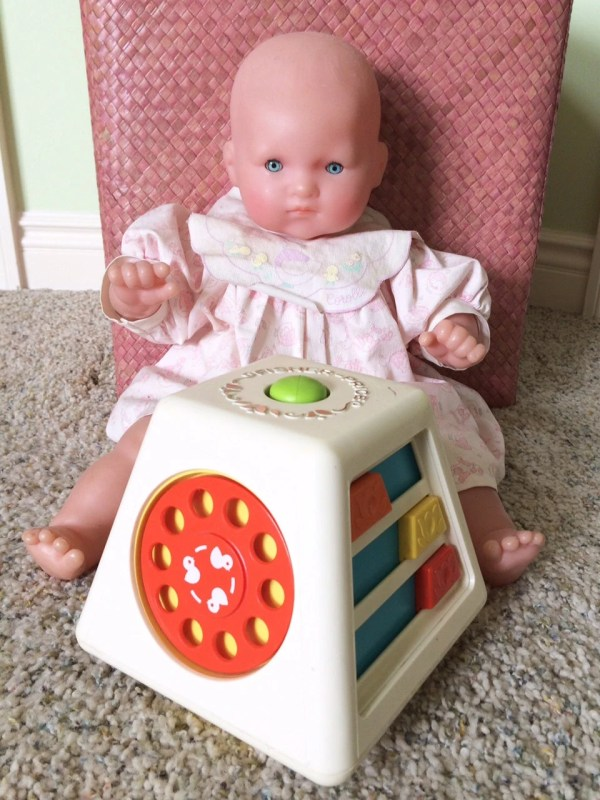 Fisher Toys Vintage Turn And Learn Toy Baby 1978