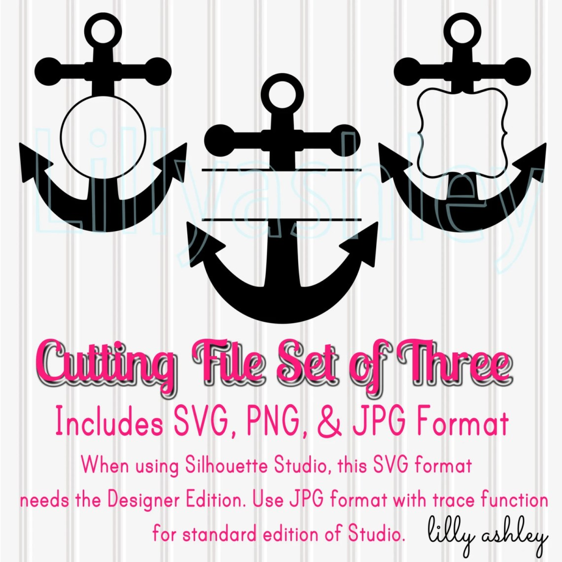 Download Anchor SVG Set of 3 Monogram SVG Cut FilesSVG png and jpg