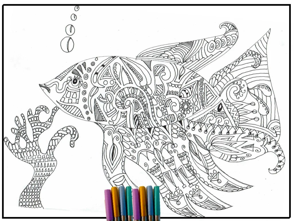 Coloring Page Fisch Adult Coloring Page Coloring Page