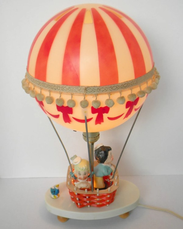 Vintage Hot Air Balloon Lamp by Dolly Toy Co