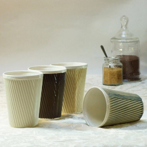 1 cup from the range of Corrugated and Cream cups