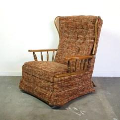 Reclining Wingback Chair Adirondack Chairs Fire Pit Mid Century Recliner / Vintage 1960s 1970s La-z-boy Rocker