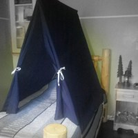 Twin Size Bed Tent Custom Teepee Canopy for Boys or Girls