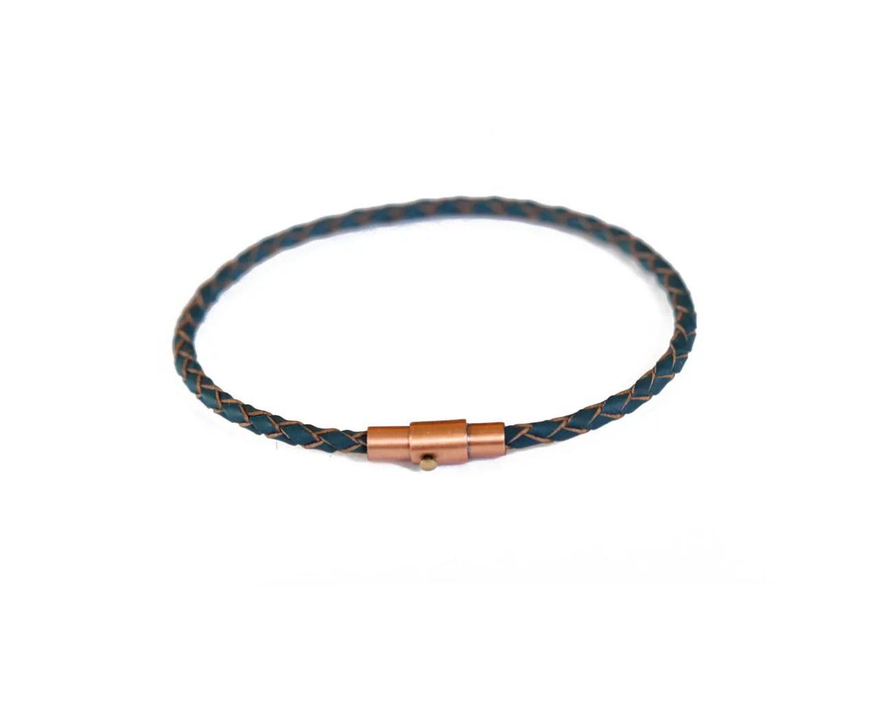 Unisex Thin Leather Bracelet/ Men's Thin Leather Bracelet/