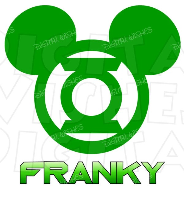 green lantern mickey mouse head