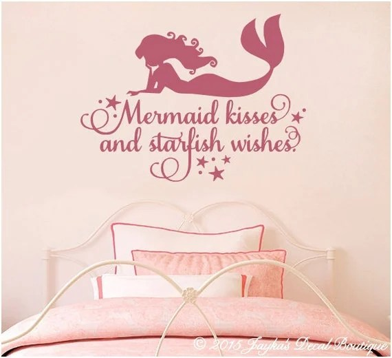 Mermaid Kisses Starfish Wishes Decal by JaykasDecalBoutique