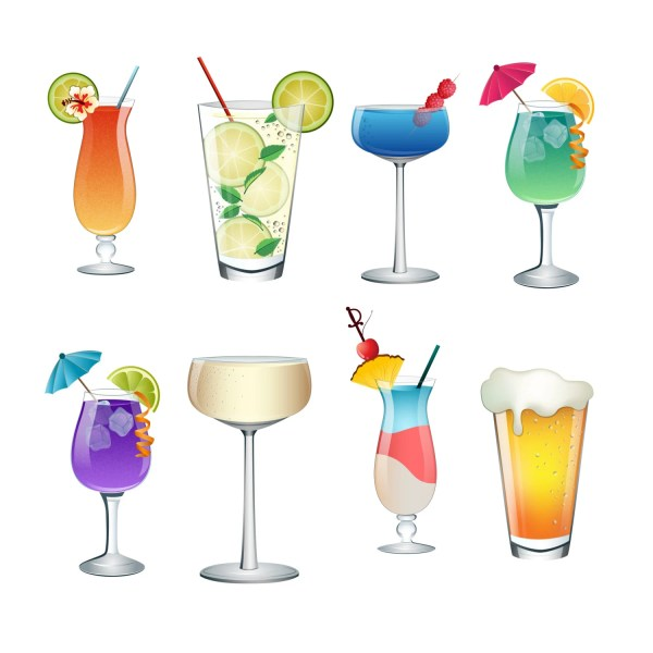 cocktail summer drinks clip art