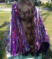 shorter goth yarn hair extensions