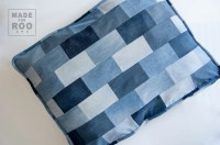 Just For Roo Pet Bed-Upcycled Denim-Pet Bed Cover-Repurposed