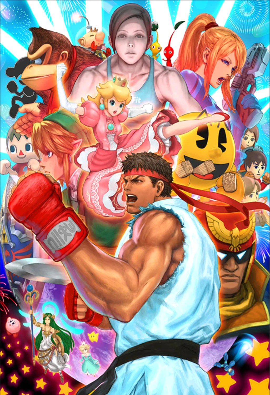Super Smash Bros Ryu Street Fighter Poster 13x19