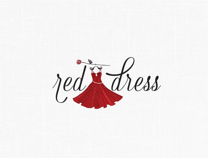 Custom Fashion Dress Logo Design / Red dress