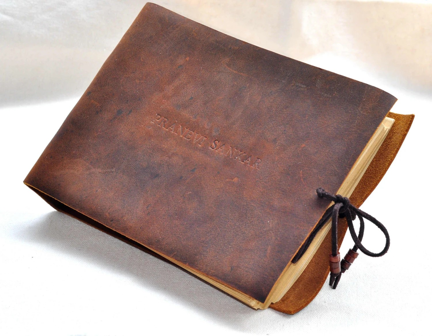 Personalized Leather Journal Unique Guest Book Personalized