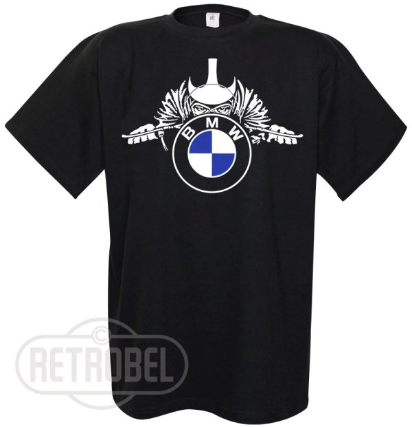 Mens T-shirt Bmw Motorcycles Black Cafe Racerclassic