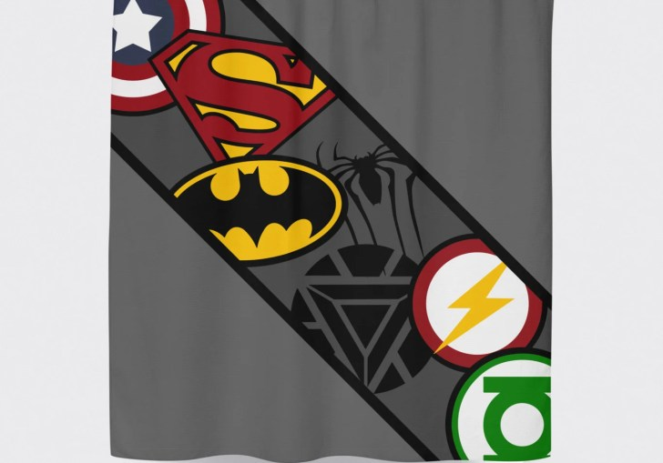 Superhero Shower Curtain