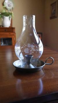 Vintage Princess House Heritage Candle Holder Lamp Etched