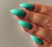 matte turquoise fake nails set