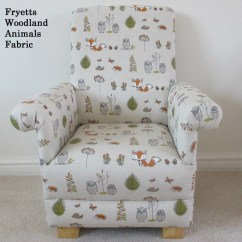 Owl Chair For Kids Cotton Covers To Buy Fryetts Woodland Animals Fabric Child Armchair