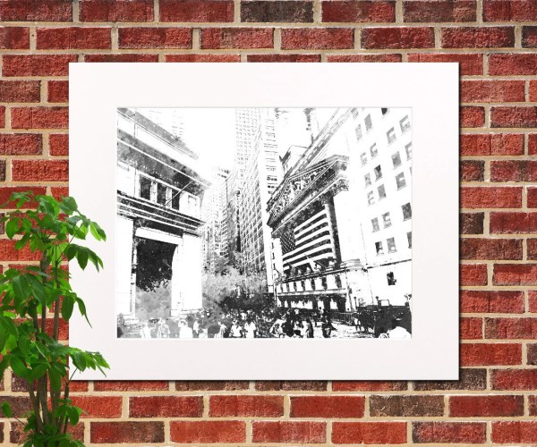 York Stock Exchange Print Abstract City Art Wall Street