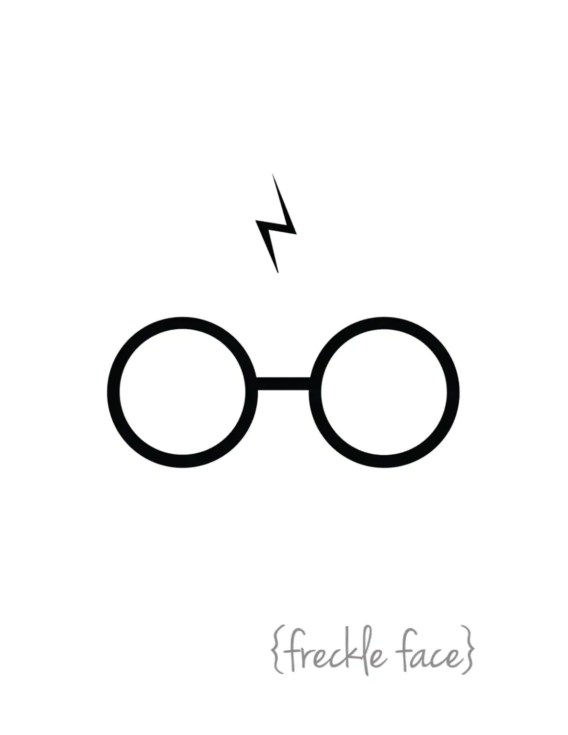 Harry Potter Glasses and Scar Printable by frecklefaceprints