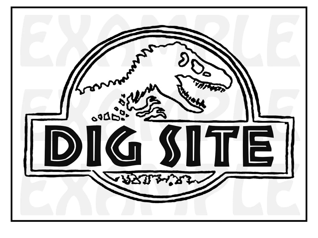 PDF: Dinosaur Dig Site Sign Themed Dinosaur Sign Party Zone