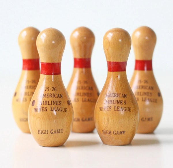 Vintage Little Bowling Pins American Airlines Wives'