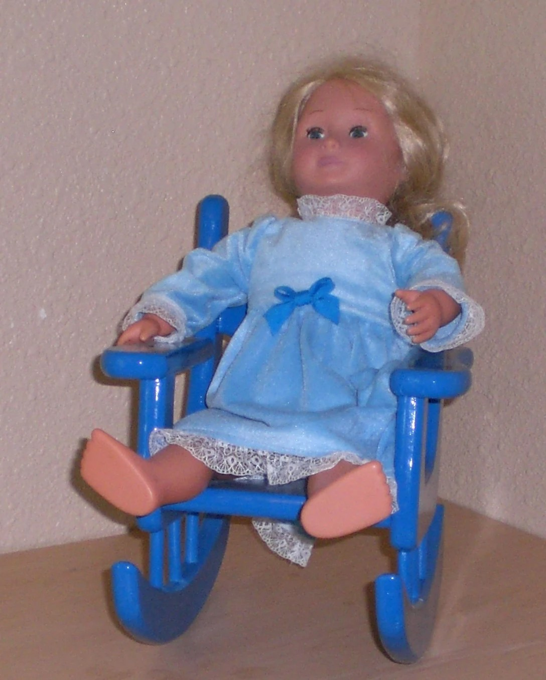 american doll chair timber ridge outdoor chairs royal blue rocking for girl size by judy