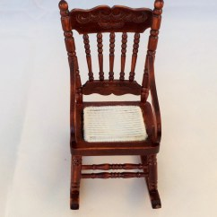 Mini Rocking Chair Childrens Desk And Set Vintage Miniature Wooden 1 12 Scale Hand