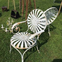 French Garden Chairs Patio Spring Steel