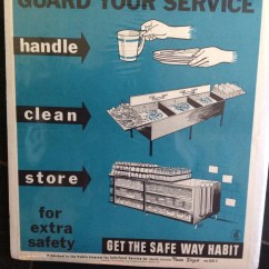 Vintage Posters For Kitchen Rustic Chairs Original Hygiene Poster Handle Clean Store