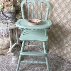 Green High Chair And A Half Glider With Ottoman Shabby Mint Vintage Jenny Lind Baby