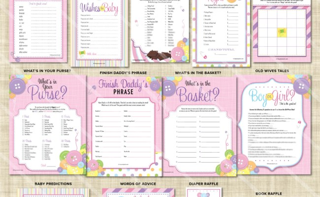 Baby Shower Games For A Girl Printable Baby Shower Games